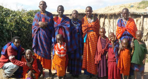 Jacksom Keringot, far left, is one of the local leaders ministering to the Masai people