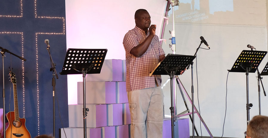 Pastor Stephen Nyadenge of Calvary Chapel Kisumu in Kenya